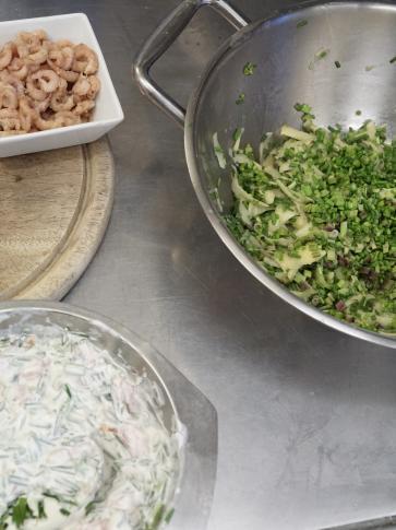 Vorbereitung in der Küche, © Robin Schneider