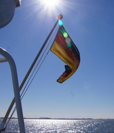 Flagge im Sonnenschein, © Die Nordsee GmbH, Katrin Koring