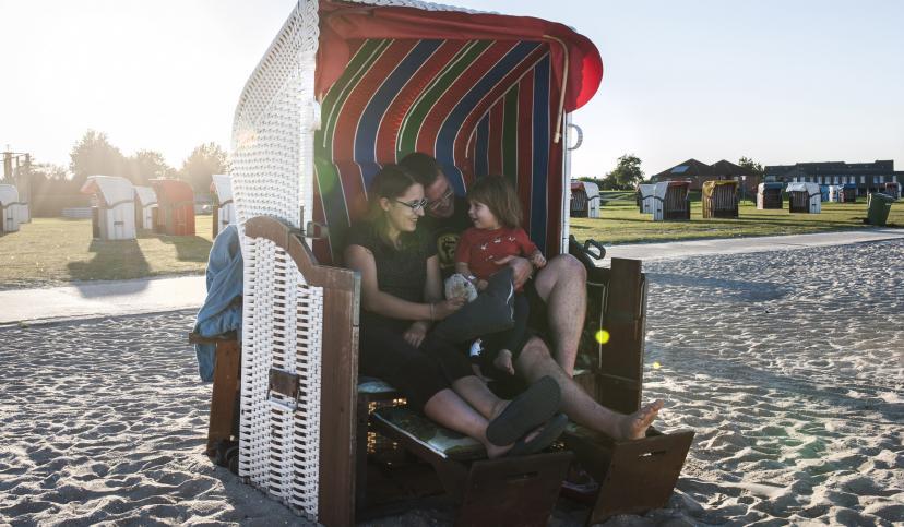 Strandkorb in Schillig, © Florian Trykowski